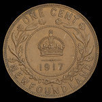 Canada, Georges V, 1 cent <br /> 1917