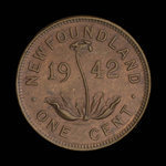 Canada, Georges VI, 1 cent <br /> 1942