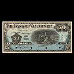 Canada, Bank of Vancouver, 50 dollars <br /> 2 mai 1910