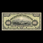 Canada, Bank of Vancouver, 100 dollars <br /> 2 mai 1910