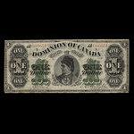 Canada, Dominion du Canada, 1 dollar <br /> 1 juin 1878