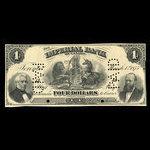 Canada, Imperial Bank of Canada, 4 dollars <br /> 1 mars 1875