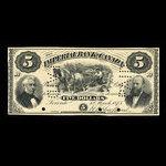 Canada, Imperial Bank of Canada, 5 dollars <br /> 1 mars 1875