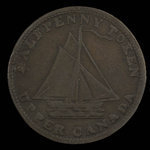 Canada, inconnu, 1/2 penny <br /> 1821