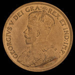 Canada, Georges V, 1 cent <br /> 1916