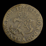 France, Louis XV, 2 sous <br /> 1755