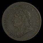 Canada, Province de la Nouvelle-Écosse, 1/2 penny <br /> 1832