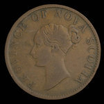 Canada, Province de la Nouvelle-Écosse, 1/2 penny <br /> 1843