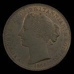Canada, Province de la Nouvelle-Écosse, 1 penny <br /> 1856