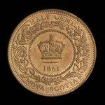 Canada, Province de la Nouvelle-Écosse, 1/2 cent <br /> 1861
