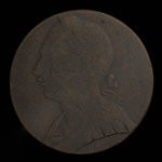 Canada, inconnu, 1/2 penny <br /> 1838