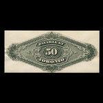 Canada, Dominion du Canada, 50 dollars <br /> 1 mars 1872