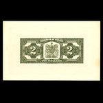 Canada, Dominion du Canada, 2 dollars <br /> 2 juillet 1923