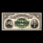 Canada, Dominion du Canada, 2 dollars <br /> 2 juillet 1887