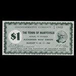 Canada, Ville de Marysville, 1 dollar <br /> 1962