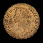 Grande-Bretagne, Victoria, 1 farthing <br /> 1860