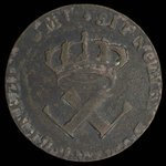 France, Louis XV, 9 deniers <br /> 1722