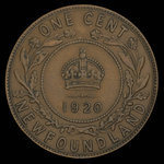 Canada, Georges V, 1 cent <br /> 1920