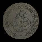 Canada, inconnu, 1/2 penny <br /> 1813