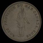 Canada, Banque de Québec, 1 penny <br /> 1837