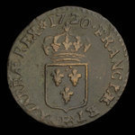 France, Louis XV, 1 liard <br /> 1720