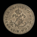France, Louis XV, 2 sous <br /> 1742