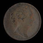 Canada, Province de la Nouvelle-Écosse, 1/2 penny <br /> 1856