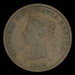 Canada, Province du Nouveau-Brunswick, 1/2 penny <br /> 1843