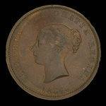 Canada, Province du Nouveau-Brunswick, 1/2 penny <br /> 1854