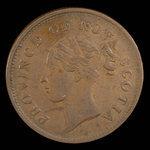 Canada, Province de la Nouvelle-Écosse, 1 penny <br /> 1843