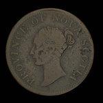 Canada, Province de la Nouvelle-Écosse, 1/2 penny <br /> 1840