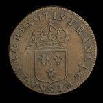 France, Louis XV, 1 sol <br /> 1719