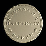 Canada, inconnu, 1/2 penny <br /> 1839