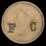 Canada, Province du Nouveau-Brunswick, 1 penny <br /> 1843
