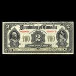 Canada, Dominion du Canada, 2 dollars <br /> 2 janvier 1914