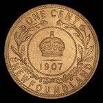 Canada, Édouard VII, 1 cent <br /> 1907