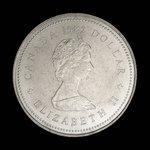 Canada, Élisabeth II, 1 dollar : 1982