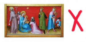 'Adoration of the Magi', Franco-Flemish Master, late 14th century