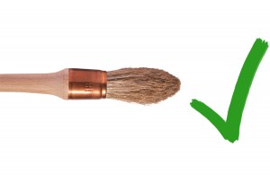 A camel's hair brush is good for dusting coins