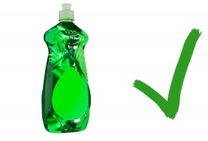 Dish soap in warm water is a safe cleaning agent for coins