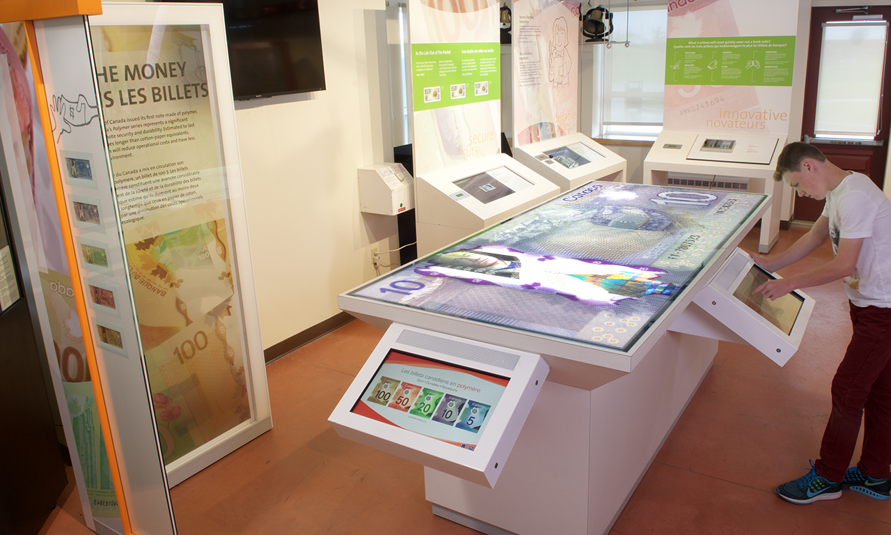Table et écrans interactifs