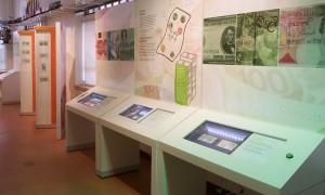 Présentoirs d'exposition interactifs