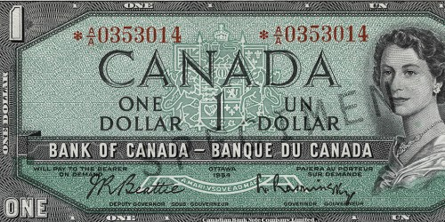billet de banque canadien valeur