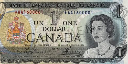 billet de 1$