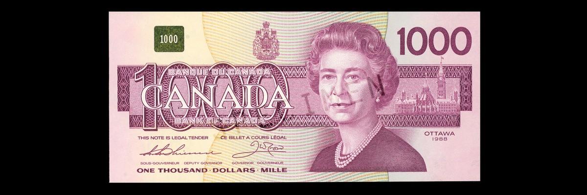 billet de banque canadien 2017