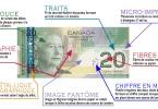 Glossaire visuel des détails de conception d'un billet de banque canadien : 2004, 20 $, recto