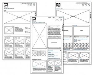 Un diagramme préliminaire représentant la structure du contenu de notre nouveau site Web.