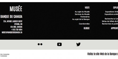 Like the header, the footer is a permanent fixture on every page, keeping navigation to a minimum.