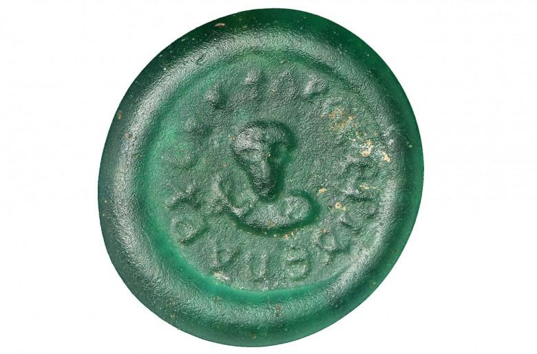 disque en verre vert