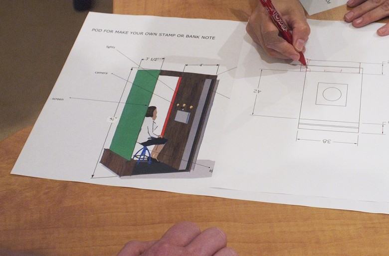 Dessin technique d'une cabine photographique